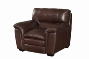 Burton Brown Leather Chair