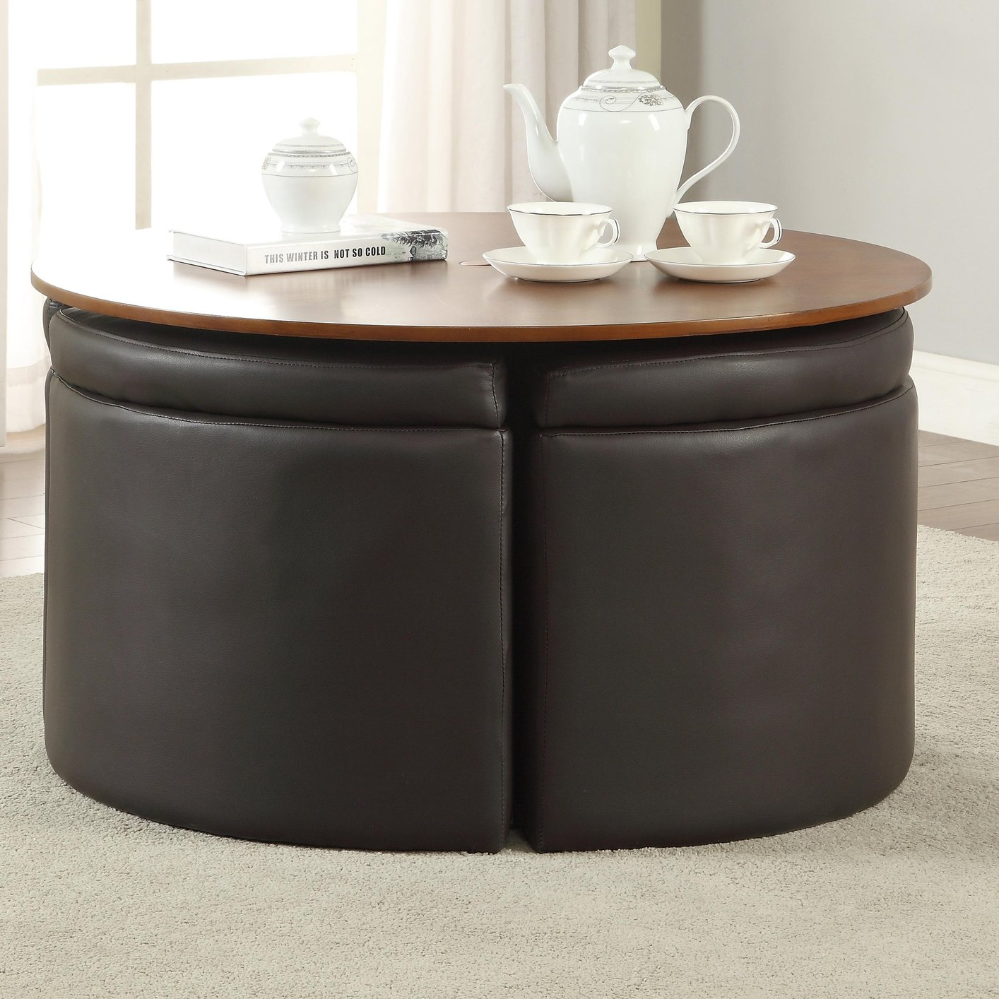 Brown Leather Coffee Table Steal A Sofa Furniture Outlet Los