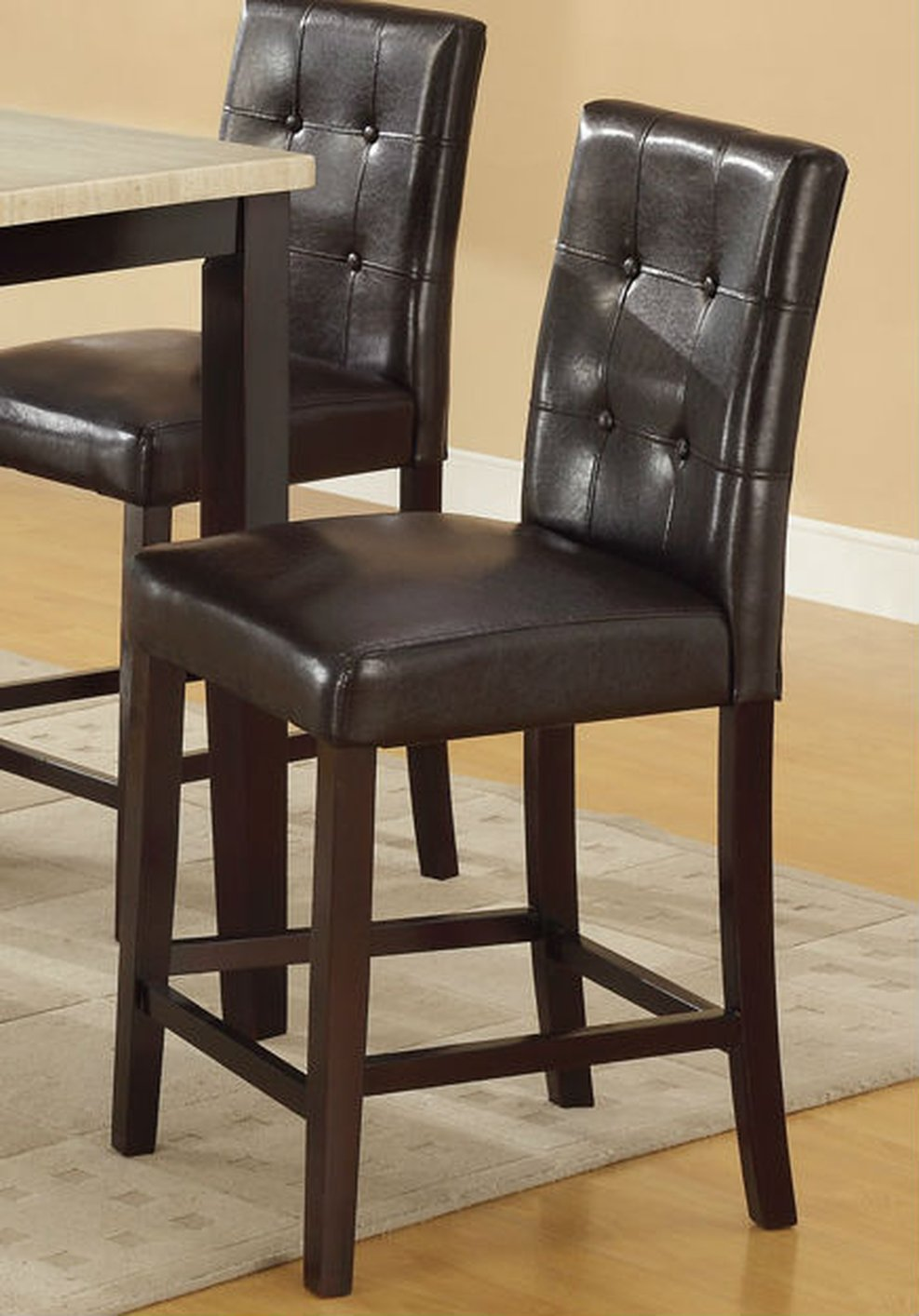 Brown Leather Dining Chair & Brown Leather Dining Chair - Steal-A-Sofa Furniture Outlet Los ...