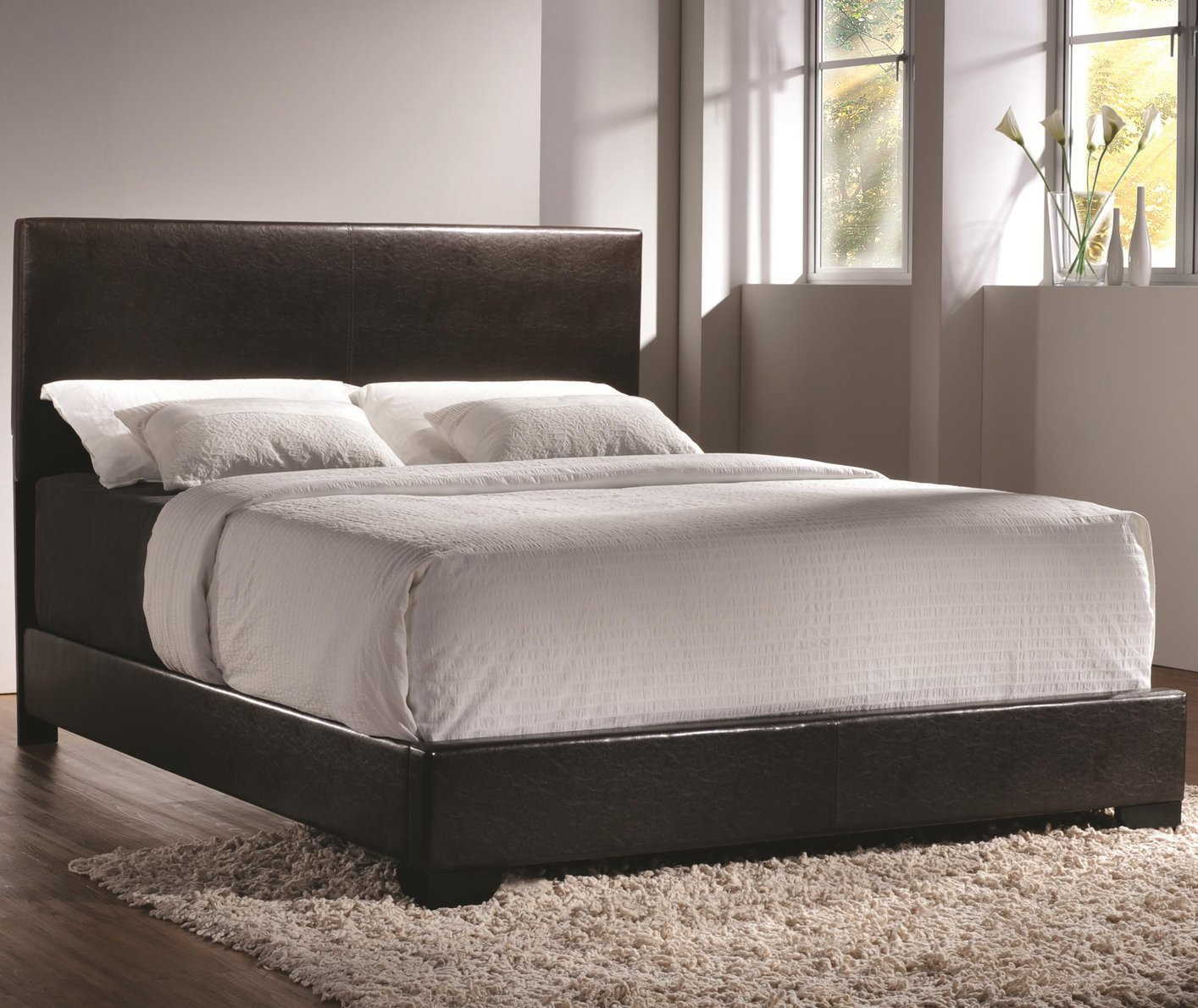 full size upholstered bed. Brown Leather Full Size Bed Upholstered