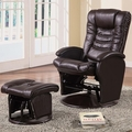 Brown Leather Glider Recliner