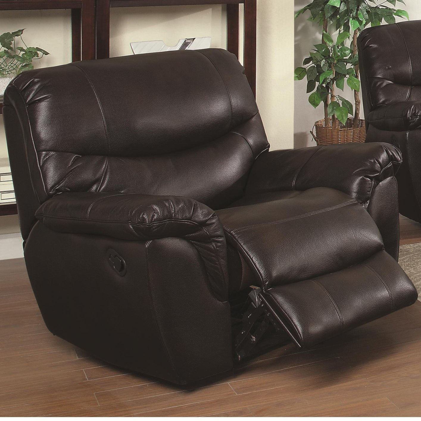 Coaster 601293 Brown Leather Glider Recliner Steal A Sofa Furniture Outlet Los Angeles Ca