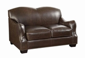 Chesapeake Brown Leather Loveseat