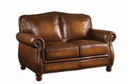 Montbrook Brown Leather Loveseat