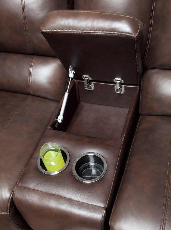 Out of Stock & Brown Leather Power Reclining Loveseat - Steal-A-Sofa Furniture ... islam-shia.org