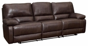 Brown Leather Power Reclining Sofa