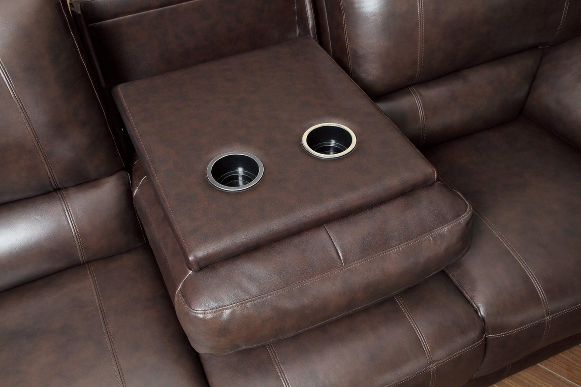 Brown Leather Power Reclining Sofa : leather power reclining sofa set - islam-shia.org