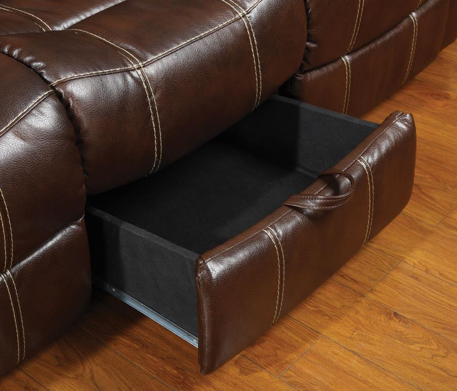 ... Brown Leather Reclining Loveseat ... & Brown Leather Reclining Loveseat - Steal-A-Sofa Furniture Outlet ... islam-shia.org
