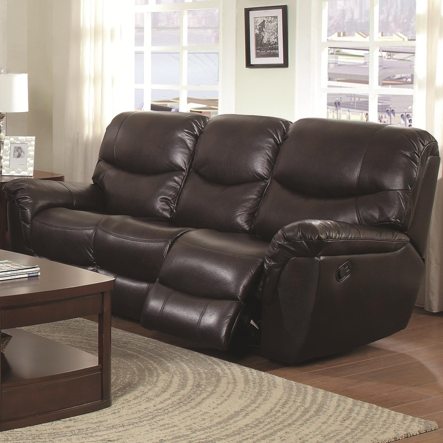 100 leather reclining sofa faux leather contemporary reclining sofa rh desarrollo forgent cl