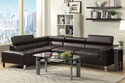 Caris Brown Metal Sectional Sofa