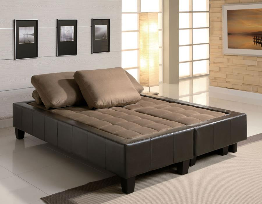 ... Brown Leather Sectional Sofa and Ottoman ... : brown leather sectional - Sectionals, Sofas & Couches