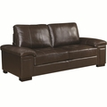 Winfred Brown Leather Sofa