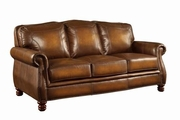 Montbrook Brown Leather Sofa