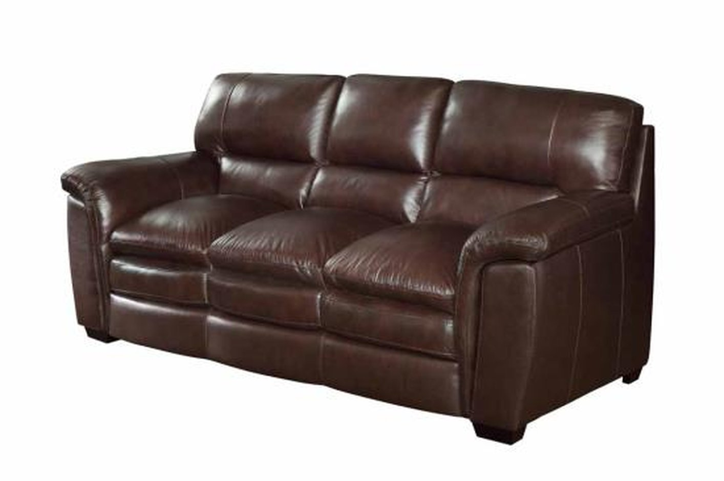 Brown leather sofa roselawnlutheran for Furniture leather sofa