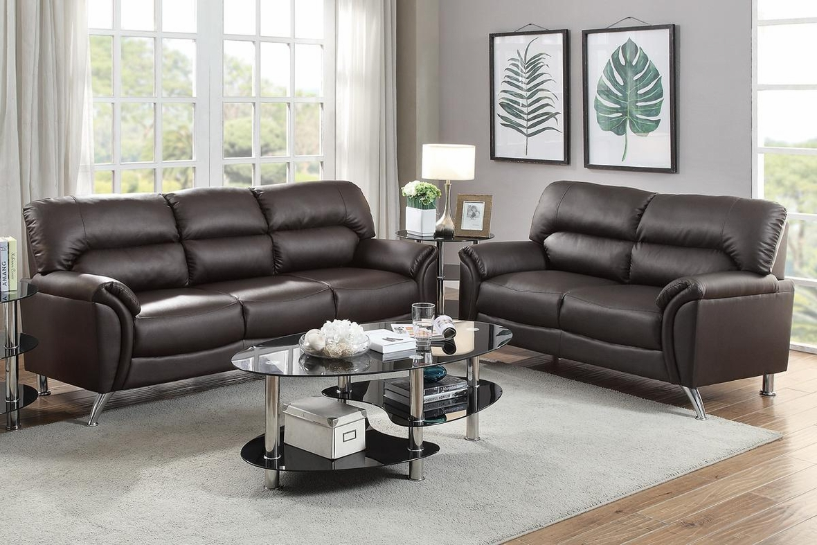 Brown Leather Sofa And Loveseat Set Steal A Sofa
