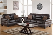 Aspen Brown Leather Sofa and Loveseat Set
