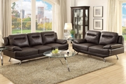 Beil Brown Leather Sofa and Loveseat Set