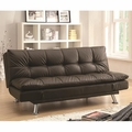 Dilleston Brown Leather Sofa Bed