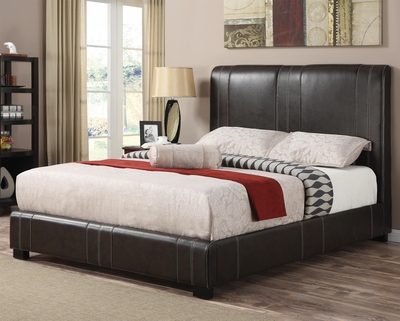 Brown Leather Twin Size Bed