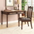 Brown Leather Writing Desk Set