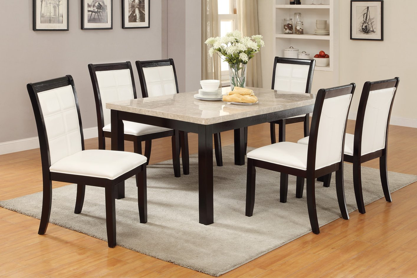 Brown Marble Dining Table Steal A Sofa Furniture Outlet
