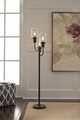 Brown Metal Floor Lamp
