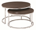 Silver Wood Nesting Table