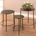Brown Metal Nesting Table