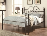Brown Metal Bed