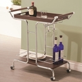 Silver Wood Serving Cart