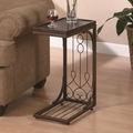 Brown Metal Snack Table