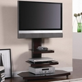 Brown Metal TV Stand