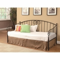 Brown Metal Twin Size Day Bed