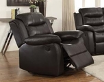 Brown Plastic Glider Recliner