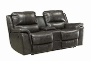 Brown Plastic Reclining Loveseat