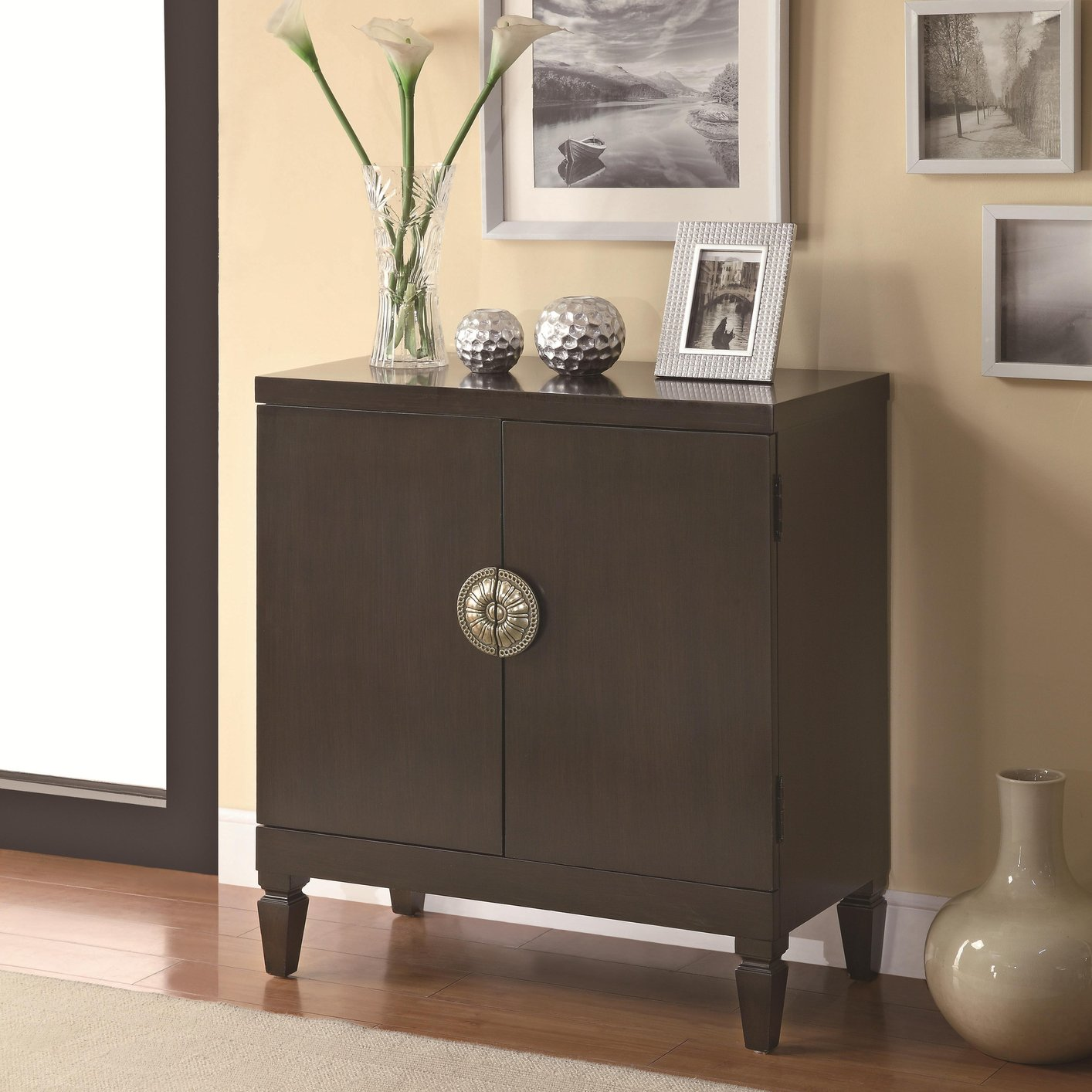Brown Wood Accent Cabinet Steal A Sofa Furniture Outlet