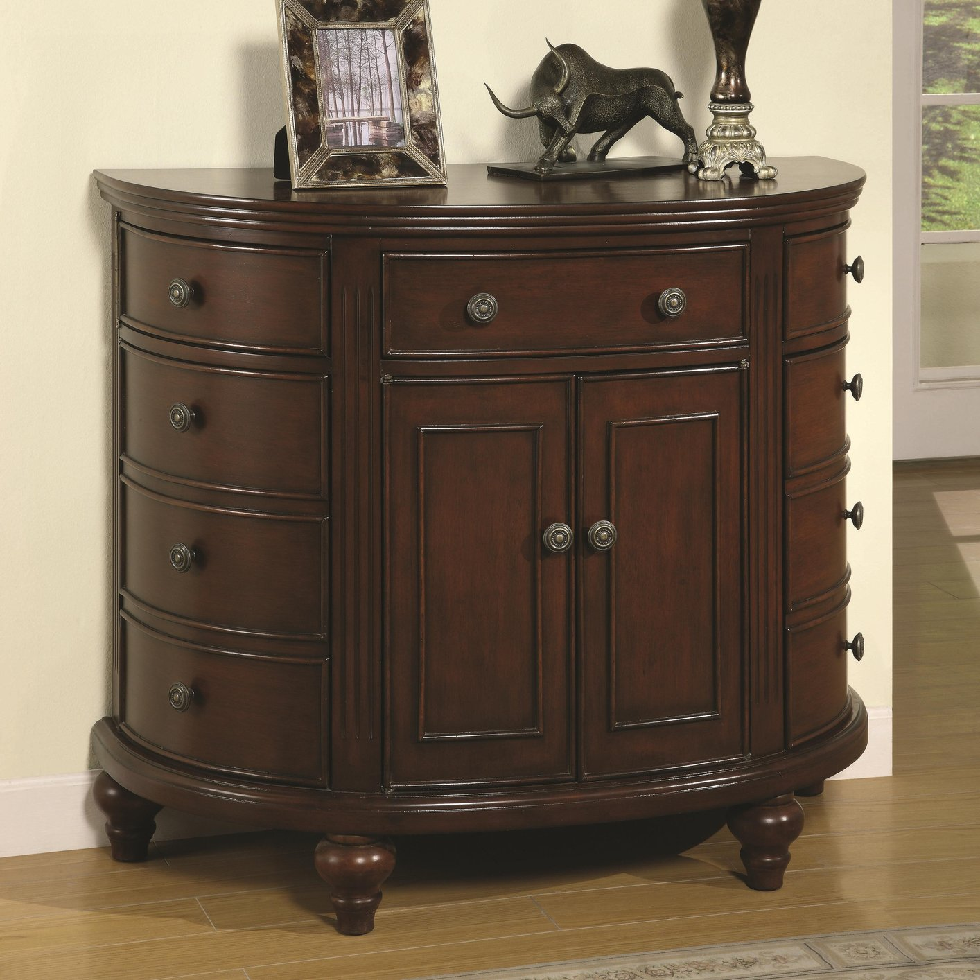 Brown Wood Accent Cabinet Steal A Sofa Furniture Outlet Los Angeles Ca