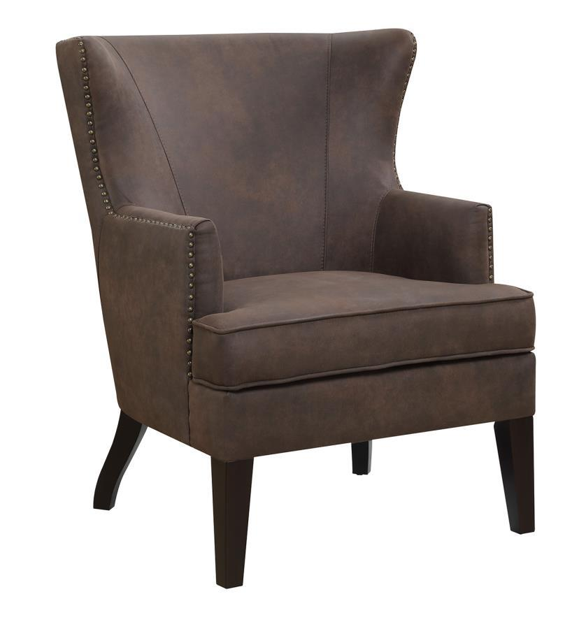 Brown wood accent chair steal a sofa furniture outlet for Furniture 90036