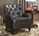 Brown Wood Accent Chair