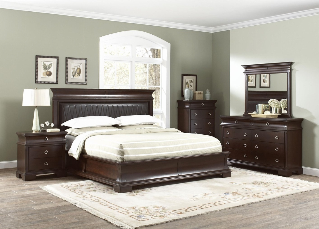 Brown wood california king size bed steal a sofa - Bedroom furniture sets los angeles ...