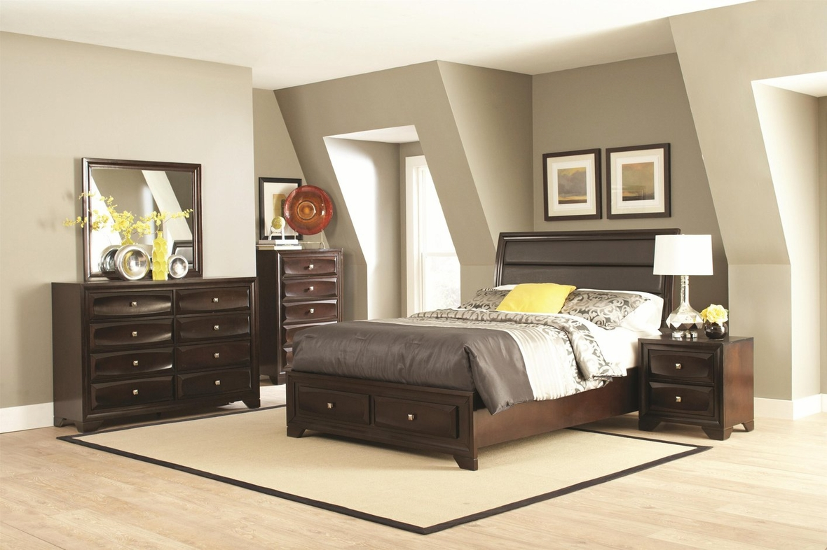 coaster 203481kw brown california king size wood bed