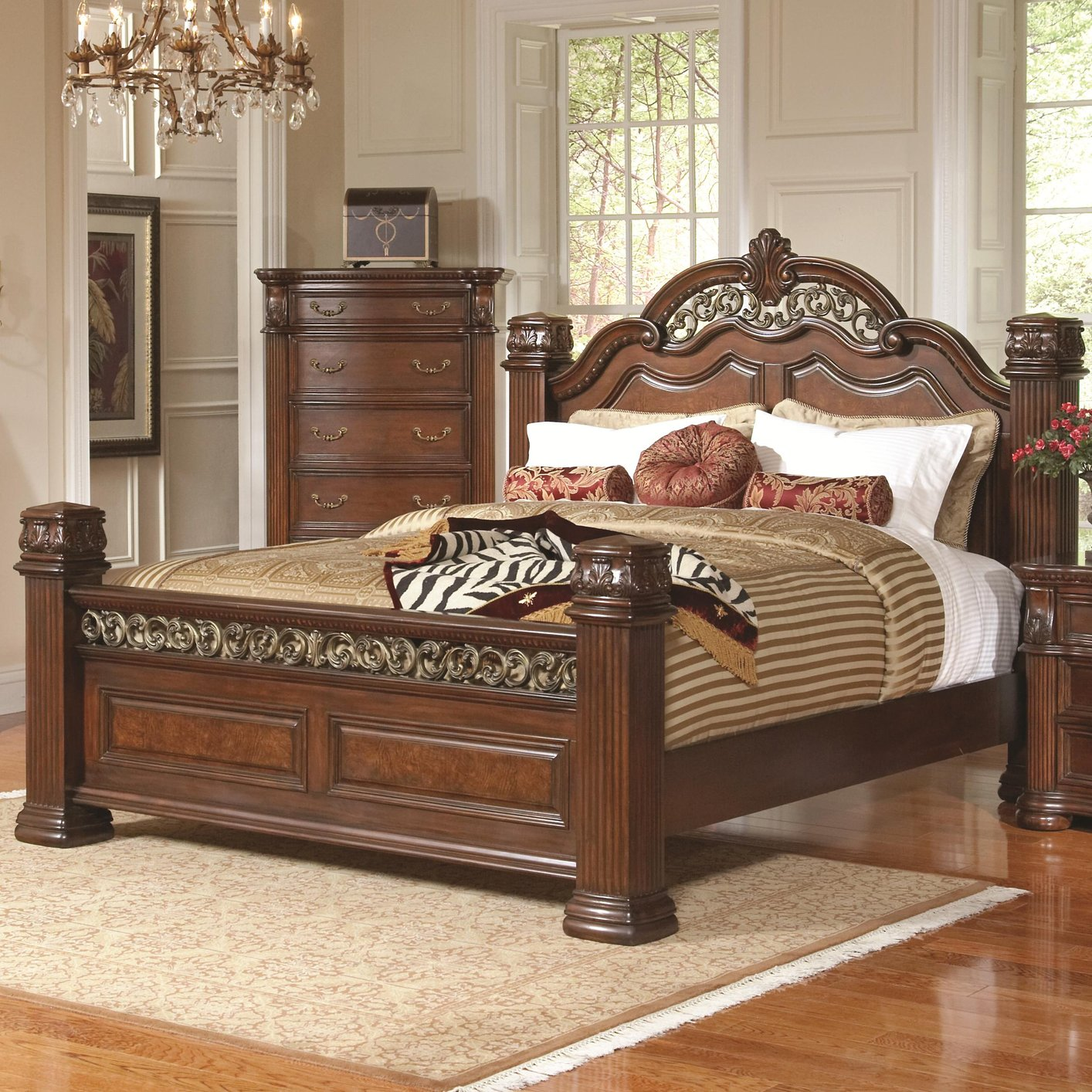 brown wood california king size bed - California King Wood Bed Frame