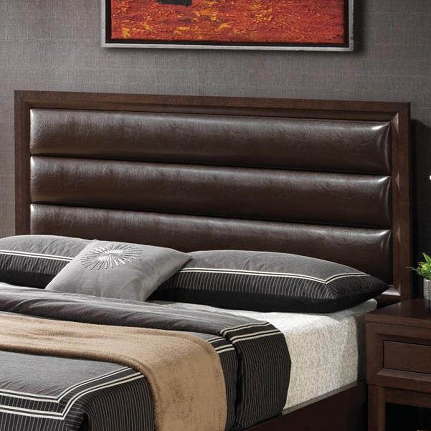 Coaster 202311kwh brown california king size wood for California king headboard