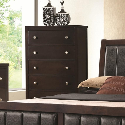 Carlton Brown Wood Chest of Drawers