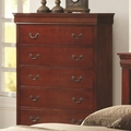 Red Wood Chest of Drawers