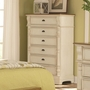 Beige Wood Chest of Drawers