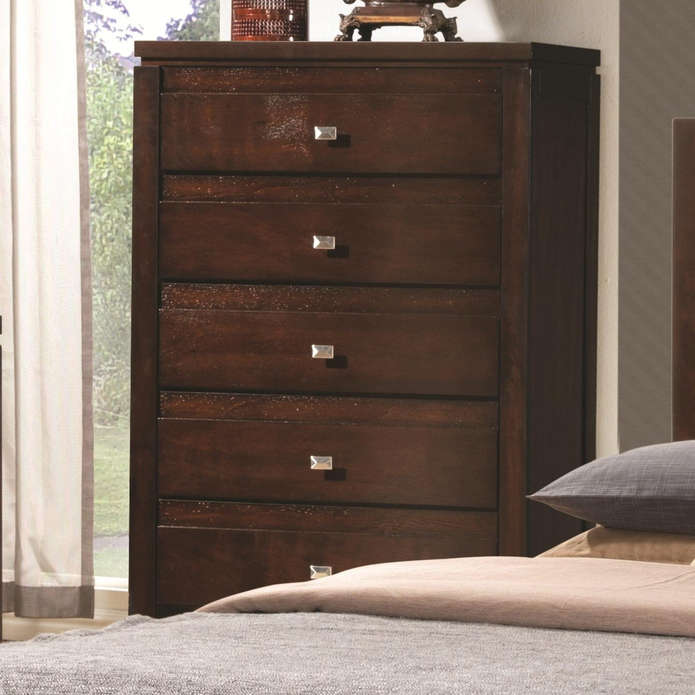 coaster 203495 brown wood chest of drawers steal a sofa furniture outlet los angeles ca. Black Bedroom Furniture Sets. Home Design Ideas