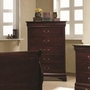 Brown Wood Chest of Drawers