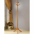 Brown Wood Coat Rack