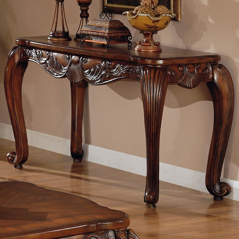 Coaster Victoria  Brown Wood Console Table - Steal-A-Sofa